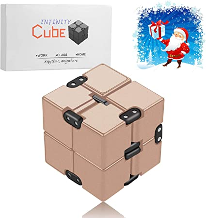 Blue and Autism Adult and Children open up to love Infinity Cube Fidget Toy Hand Killing Time Prime Infinite Cube for ADD ADHD Anxiety