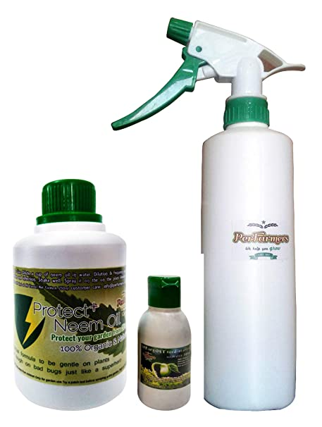 PerFarmers 250ml Neem oil with 600ml Spray Bottle