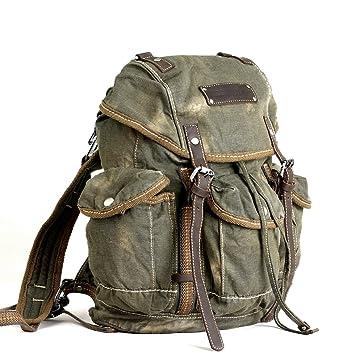 VIRGINSTONE Highland Men Canvas Rucksack Backpack 16L Small