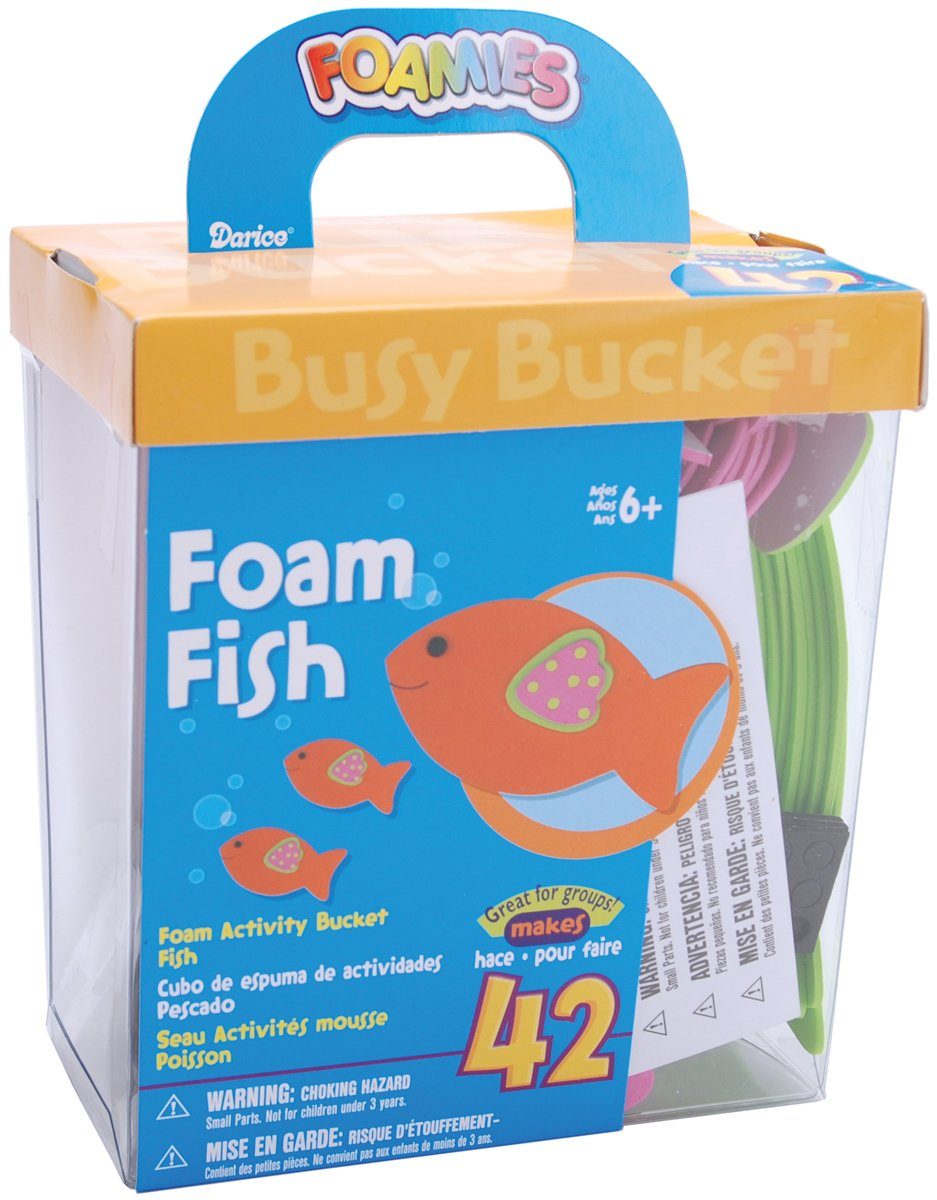 foam fish crafts for father's day gift from kids classroom