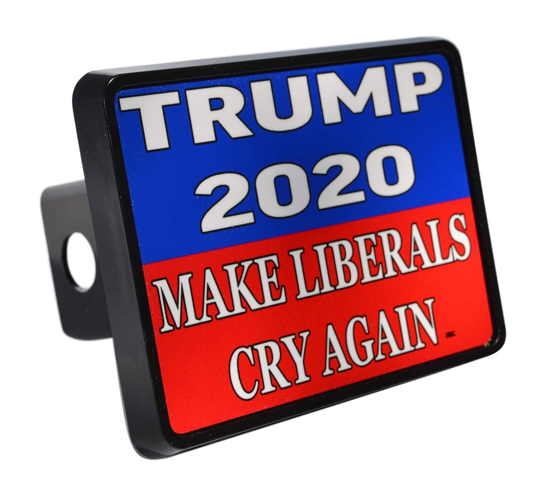 Rogue River Tactical Funny President Donald Trump Trailer Hitch Cover Plug Gift Idea Make Liberals Cry Again MAGA VV448