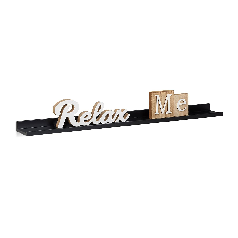 Relaxdays 10021813_53 Mensola da Parete in Legno MDF, Lunga, HxLxP: 3,5 x 80 x 10 cm, Verde Relaxdays GmbH