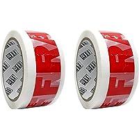 Verpakking Tape 48MM x 66 Meter breekbare tape voor pakketten en dozen - 2 rollen