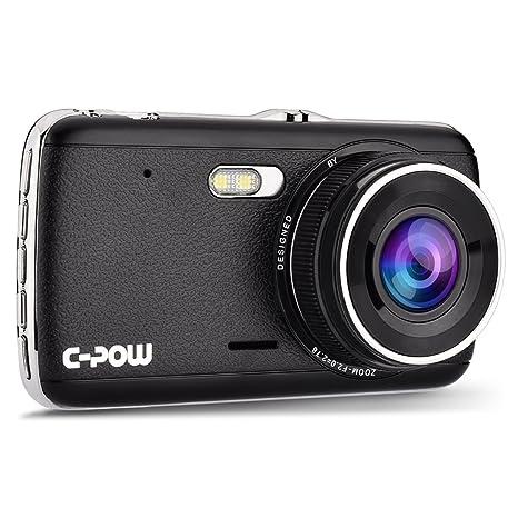 C-POW Dash Car Camera 4 IPS Display, HD 1296P(better than 1080P) 170