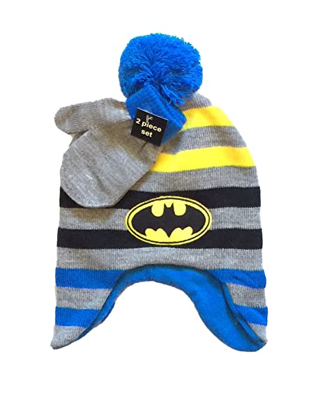7bc09c89b89 Image Unavailable. Image not available for. Color  DC Comics Batman Little  Boys Beanie Hat   Mitten Set