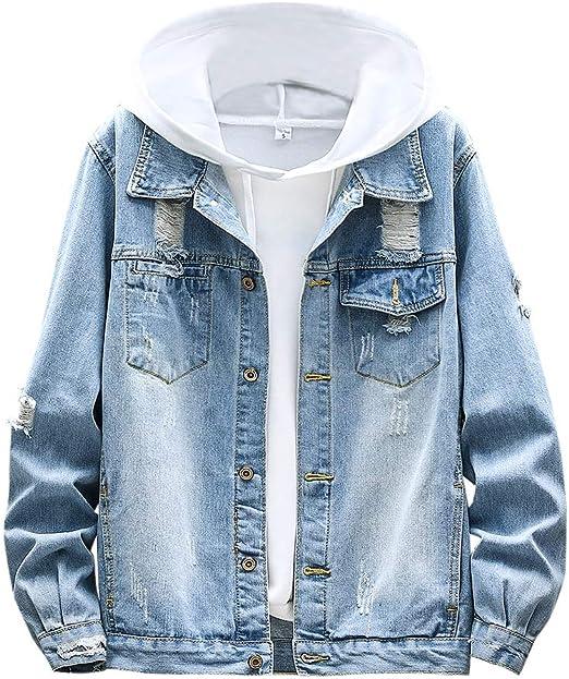 Ealmennメンズ デニムジャケット ジージャン ジャンパー gジャン ダメージ アウター 大きいサイズ カジュアル 春服