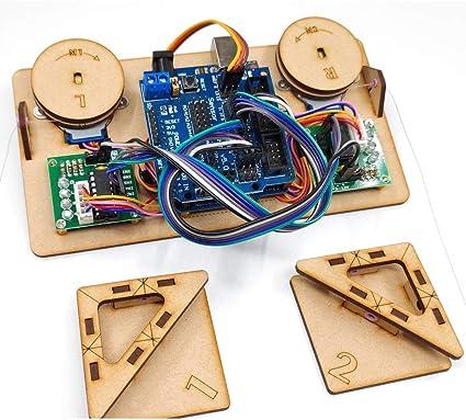 Dibuje Pintura de Pared del Robot con el Cable Plotter Arduino proyectista Kit Polar Gráfico con Motor DIY Stem Juguete de Piezas (Color : Full Set Robot): Amazon.es: Juguetes y juegos