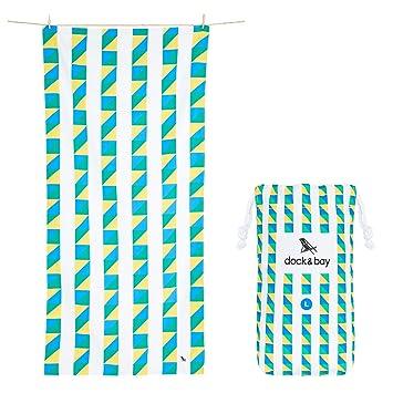 Toalla de playa grande Dock & Bay Sand Free – toallas de secado rápido para viajes