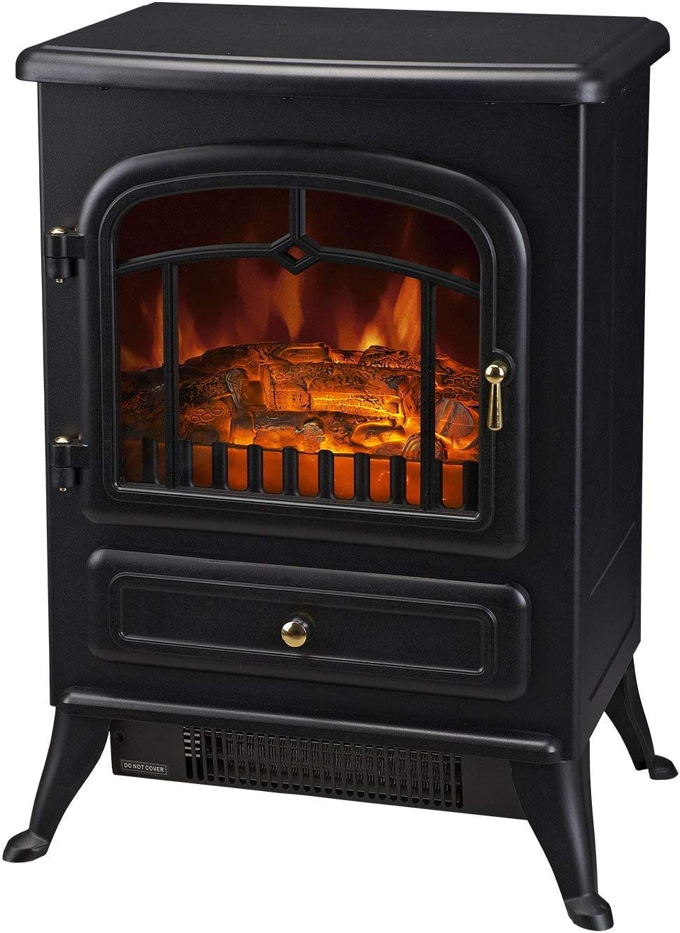 Homcom 16 Free Standing Electric Fireplace Portable Adjustable Stove With Heater Wood Burning Flame 750 1500w Black Amazon Ca Home Kitchen