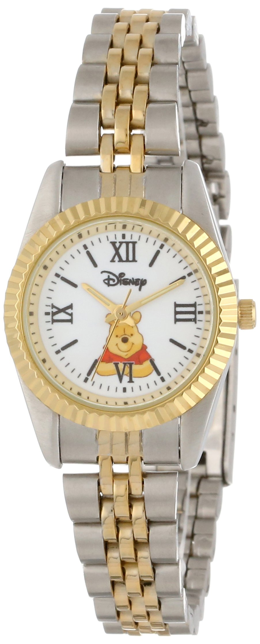 Disney Women's W000578 Winnie The Pooh Two-Tone Status Watch