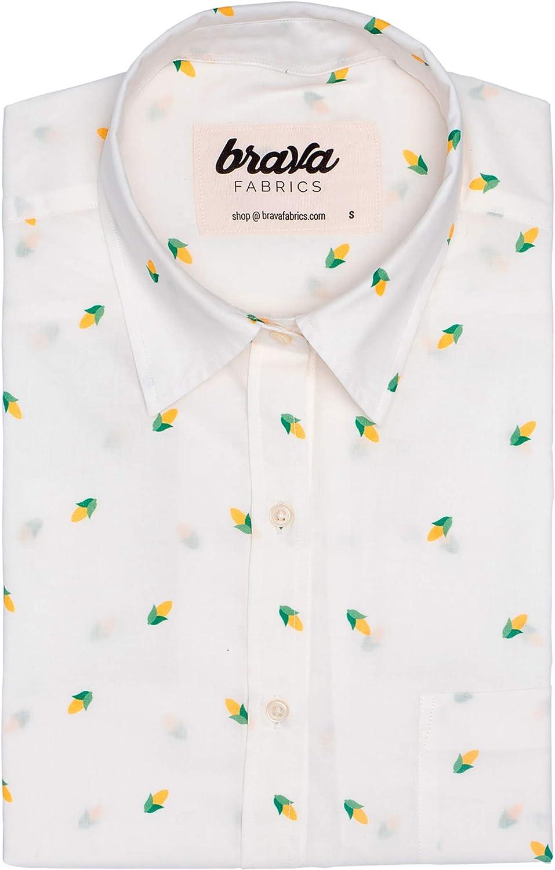 Brava Fabrics   Blusa para Mujer   Camisa Blanca Estampada ...