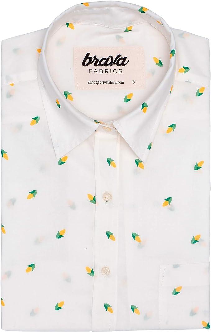 Brava Fabrics | Blusa para Mujer | Camisa Blanca Estampada ...