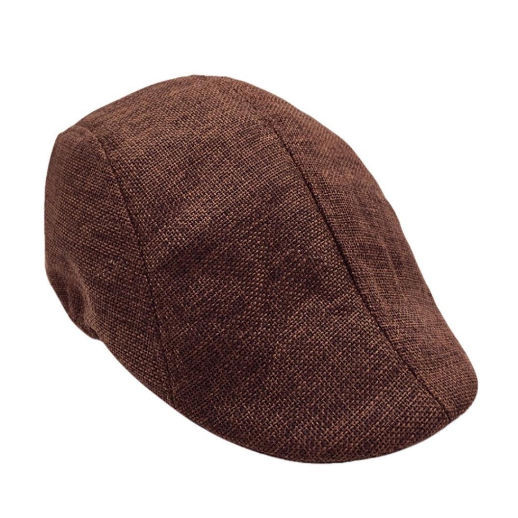 OverDose Été Casquette Chapeaux Coton Béret Cap Mode Accessoires OverDose-3514 Casquette Plate Homme Vintage