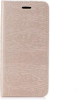 Custodia Samsung Galaxy S7 Edge, Scheam Libro Flip Cover Custodia a Portafoglio Premium Custodia in PU Pelle [Kickstand Feature] [Supporto per Slot per Schede] Custodia Protettiva per Samsung Galaxy S7 Edge Golden LRZO-14-301