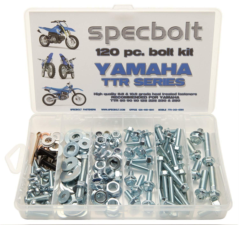 Specbolt Fasteners Bolt Kit | Yamaha - TTR50 TTR90 TTR110 TTR125 TTR225 TTR230 TTR250 Models 2000-2019 series: basic pack (S)