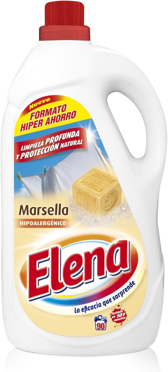 Elena Detergente para Ropa Líquido Marsella - 90 Dosis, 4.95 L