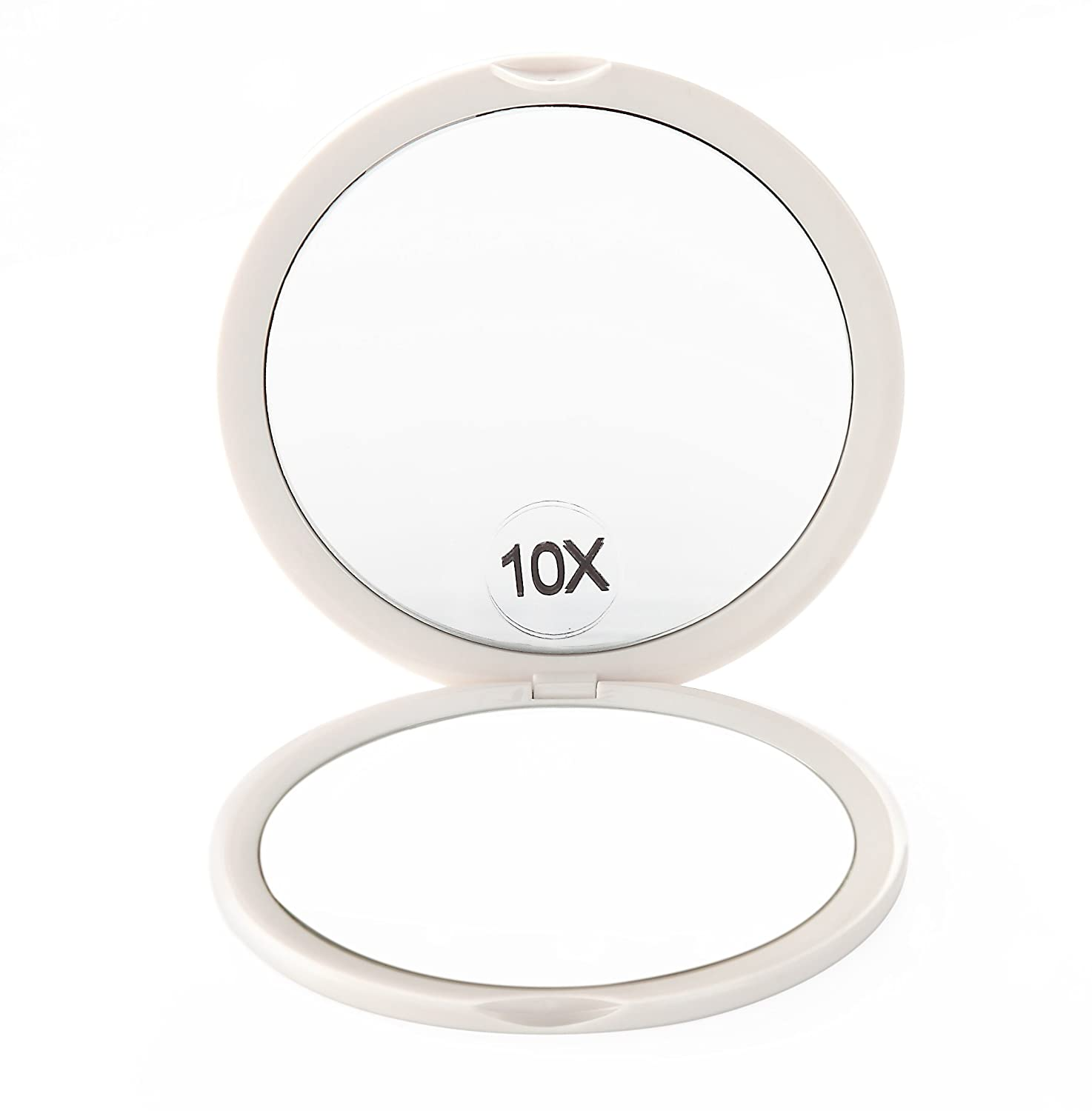 Miss Sweet 10X& 1X Magnification Compact Mirror for Purse Pocket Mirror (White) Y1