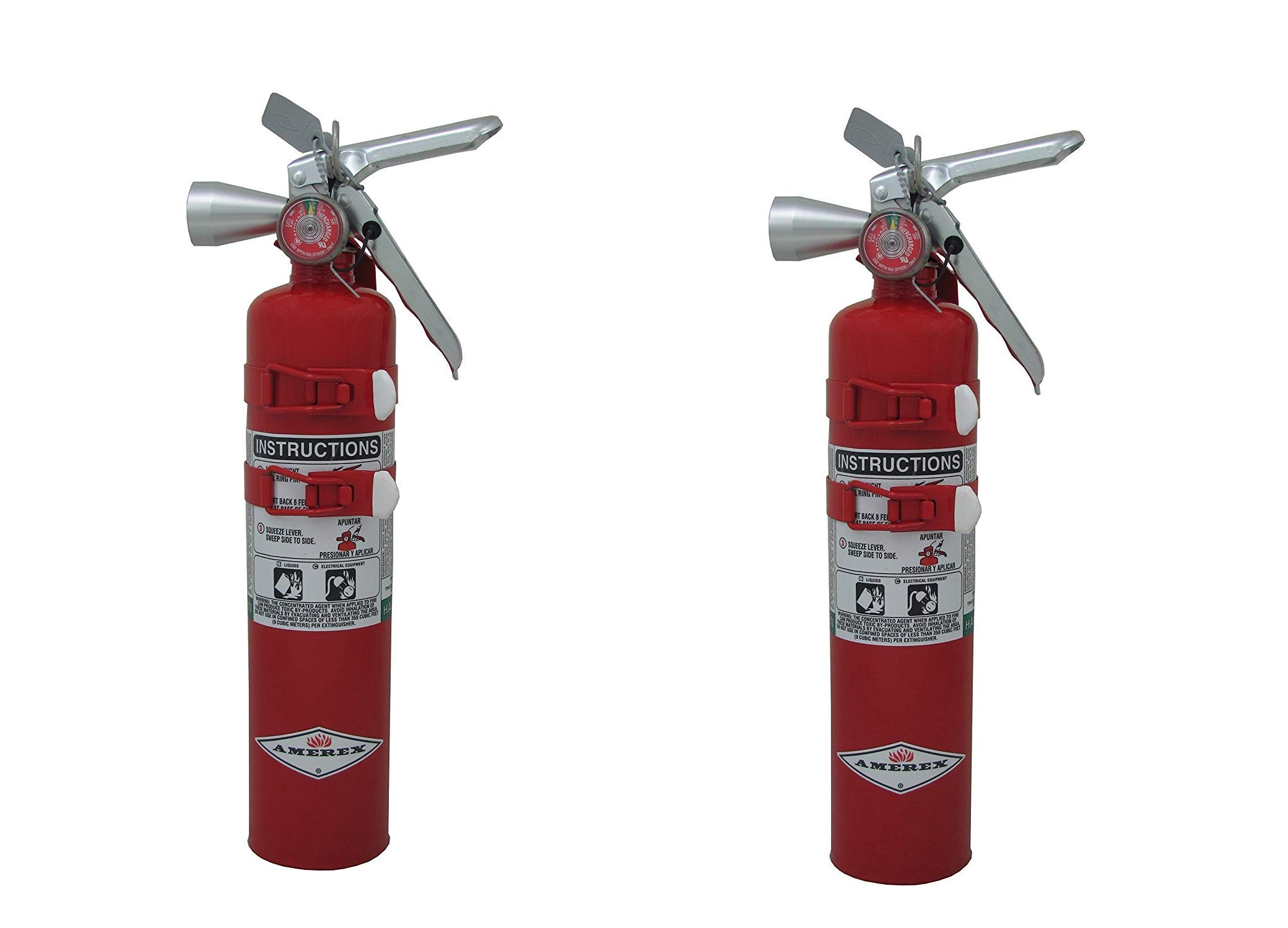Amerex TYF B385TS, 2.5lb Halotron I Class B C Fire Extinguisher Pack of 2 by Amerex