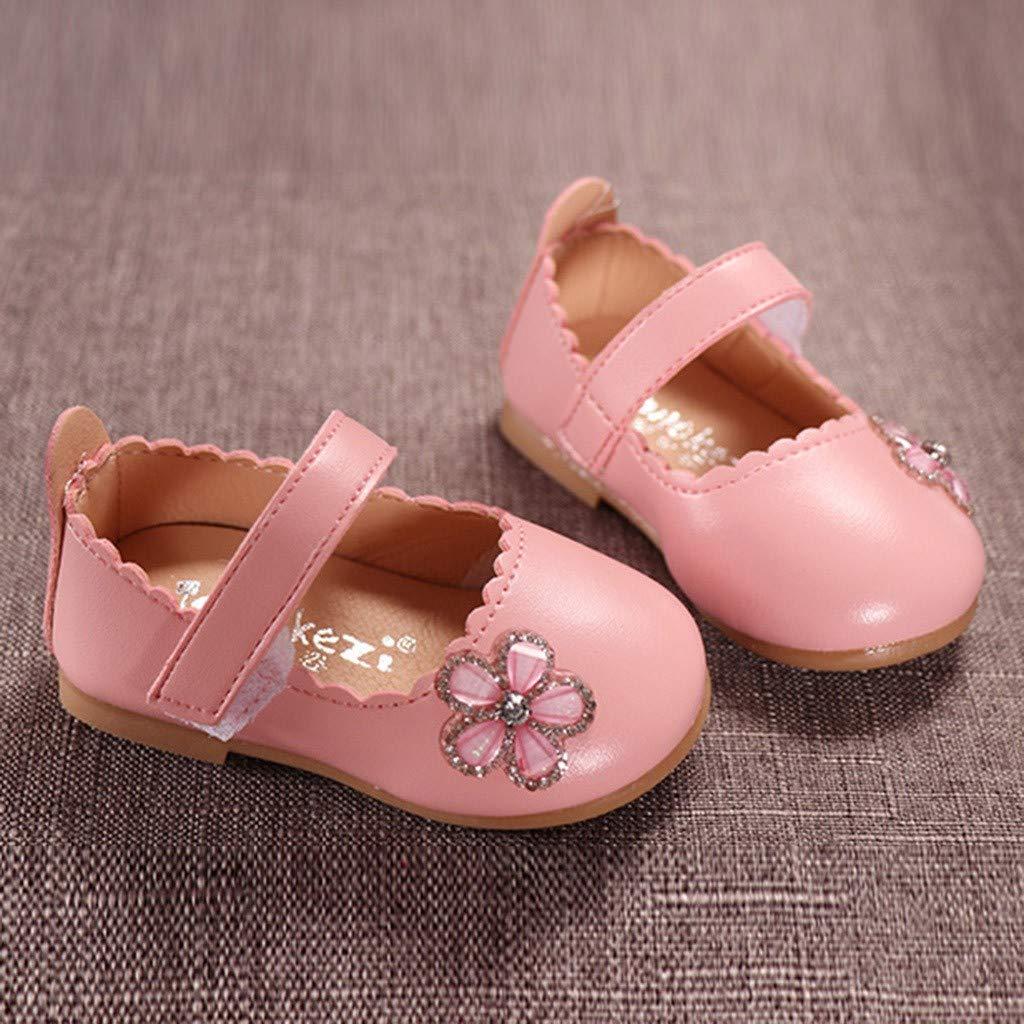 SOMESUN Petites Chaussures Douce /Él/éGant Strass Fleur Sandale Ete Princess Chaussures Chaussures Premiers Pas B/éb/é Fille