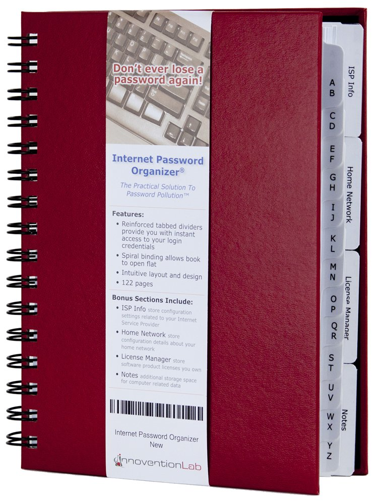 Internet Password Organizer Red Innovention product image