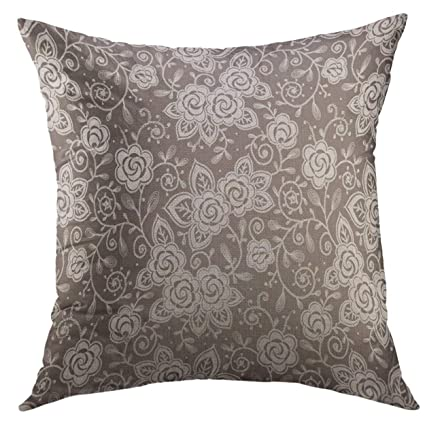 Amazon Mugod Decorative Throw Pillow Cover For Couch SofaPink Cool Brocade Home Decor Decoration