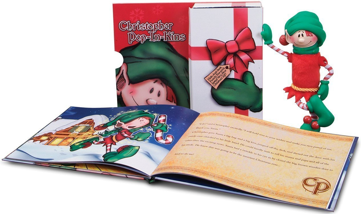 Amazon.com: Pop-In-Kins Elf Fun with Christopher Bookset Mini ...