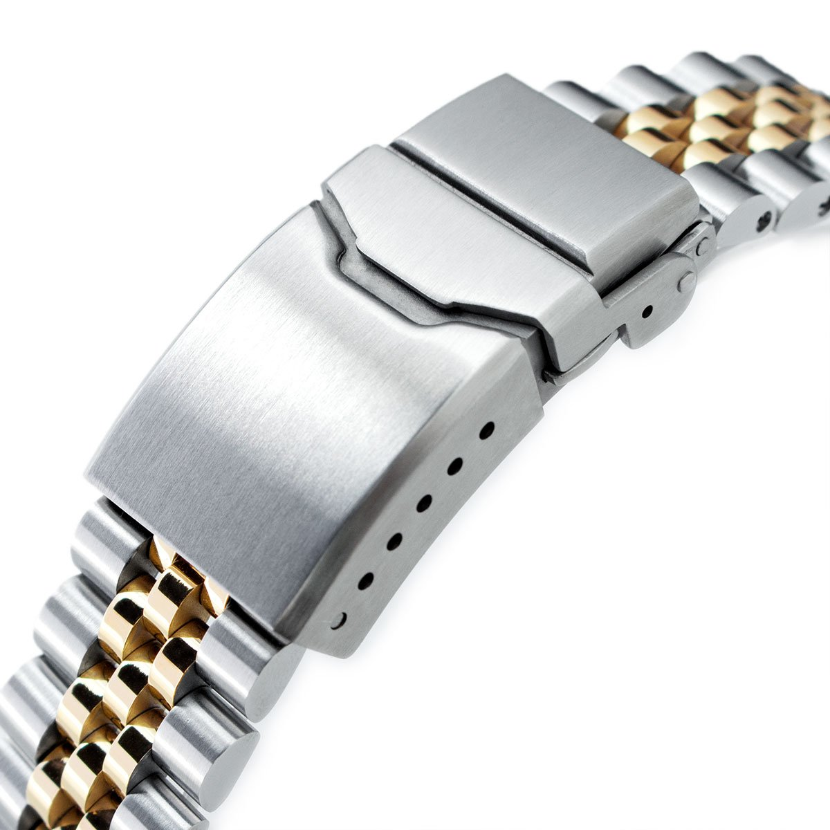 22mm Super 3D Jubilee Watch Bracelet for Seiko New Turtles SRP775, 2-Tone, Button Chamfer by Seiko Replacement by MiLTAT (Image #3)