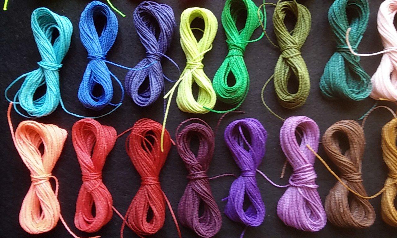 30 colori X5 m per colore A 150 metri di filo cerato Linhasita