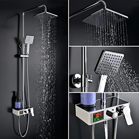 Homelody columna de ducha conjunto de ducha grifo monomando de ...
