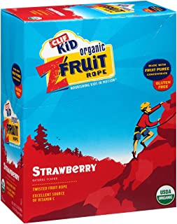 product image for CLIF Organic Strawberry Twisted FruitRope Box, 0.07 OZ (Pack of 18)