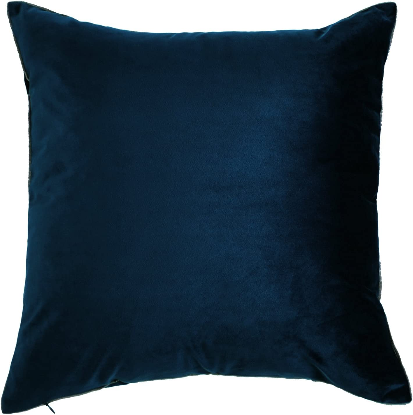 King Rose Gorgeous Home Decorative Throw Pillow Covers Super Luxury Soft Cushion Case for Sofa Bed Living Room Bed Decor 24 X 24 Inches Navy Blue