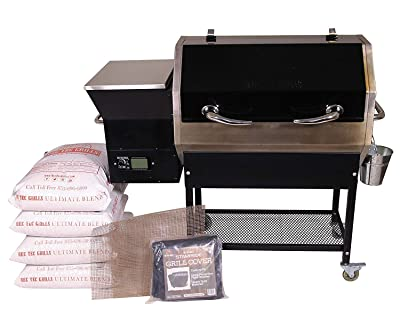 REC TEC Grills Stampede | RT-590 | Bundle | WiFi Enabled | Portable Wood Pellet Grill | Built in Meat Probes | Stainless Steel | 30lb Hopper | 4 Year Warranty | Hotflash Ceramic Ignition System