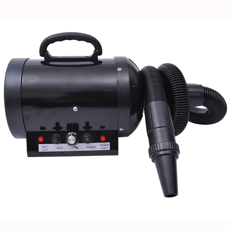 secador expulsor para perro con manguera, portátil de color negro