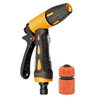 HOKIPO High Pressure Garden Hose Nozzle Water Spray Gun with Connector