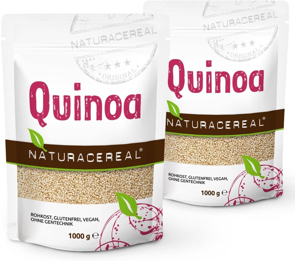 NATURACEREAL - Quinoa Blanca Premium (2 x 1kg) - | Mayor contenido ...