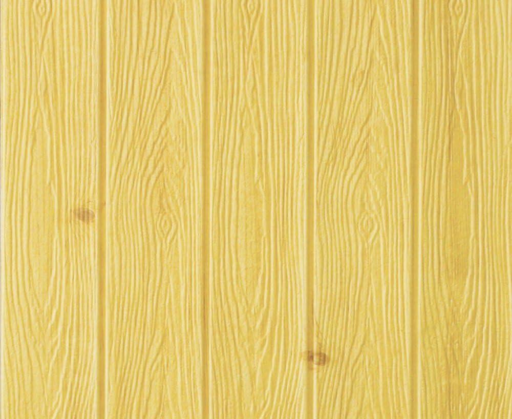 3D Pegatinas de Pared tridimensionales Grano de Madera Impermeable Papel Tapiz Autoadhesivo tablón Espuma Espuma Cintura TV decoración de Fondo Comprar uno y Obtener uno (Color : Yellow): Amazon.es: Hogar
