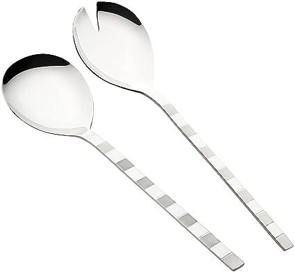 Premium – Cubiertos para servir ensalada (2 unidades, acero inoxidable para servir ensaladas –