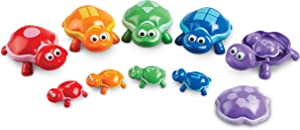 Learning Resources Number Turtles Set, Counting, Color & Sorting Toy, 15 Pieces, Ages 2+