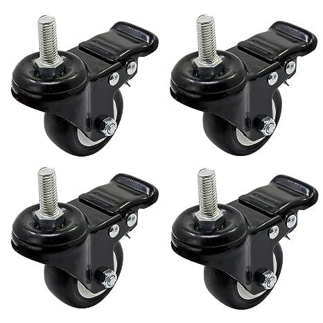 OCR ruedas de goma Base 360 Degree Caster Rueda de goma con freno para carritos de
