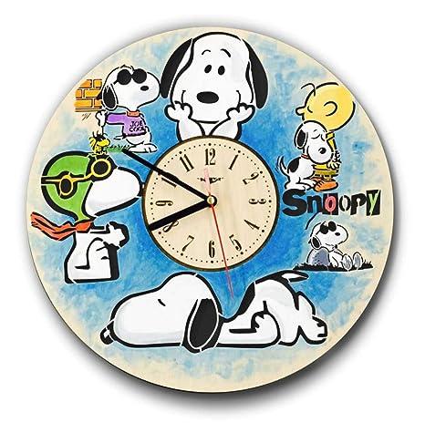 Snoopy pintado reloj de pared hecho de madera – perfecto y muy bien corte – Decora