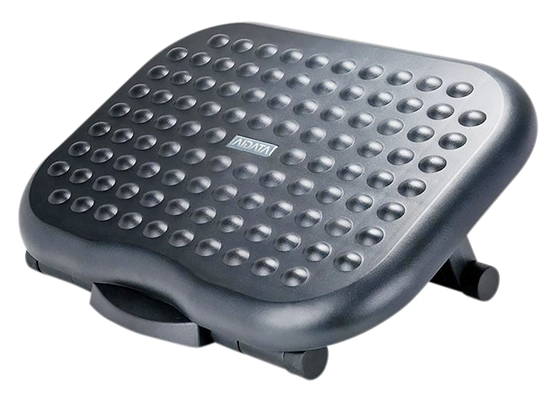 Aidata FR008 Foot Rest, Adjustable, Non-skid, Comfortable, Black