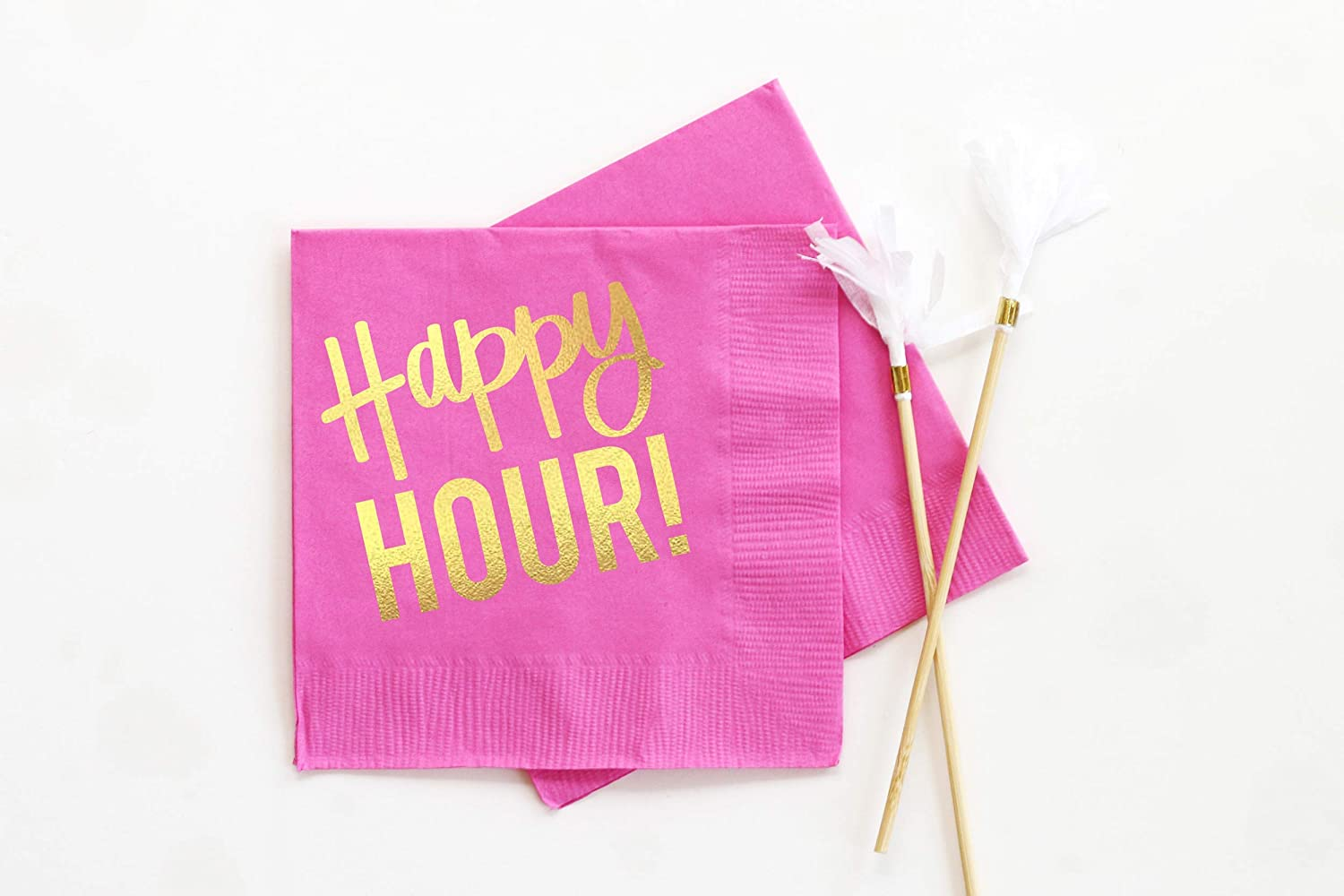 Hostess Gift Barware Birthday Party Supplies and Decorations Happy Hour Cocktail Napkins