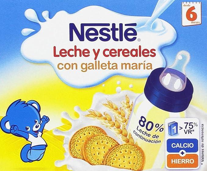 Nestlé - Leche y Cereales con Galleta María - 6 Packs de (2x250 ml)