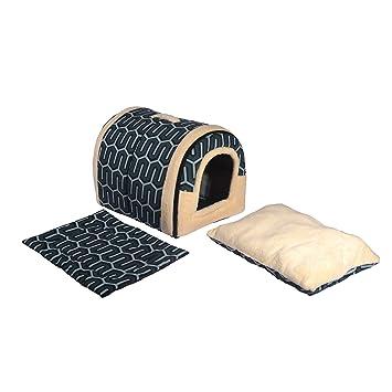 ANPI 2 en 1 Casa y Sofá para Mascotas, Lavable a Máquina Casa Cama de