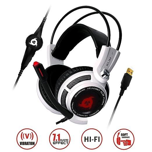 KLIM™ Puma Gaming Headset - USB 7.1 Kopfhörer - Integrierte Vibrationen - Mikrofon - Für PC Mac PS4 Laptop Games - Over Ear G