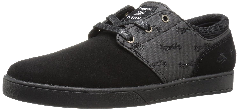 Emerica Men's Figueroa X Hard Luck Skateboarding Shoe, Black/Black, 13 M US
