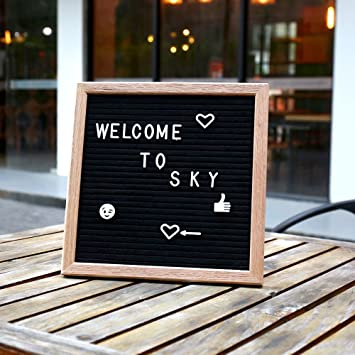 10x10 inch vintage felt changeable letter board message wedding shower photo booths house warming office wooden