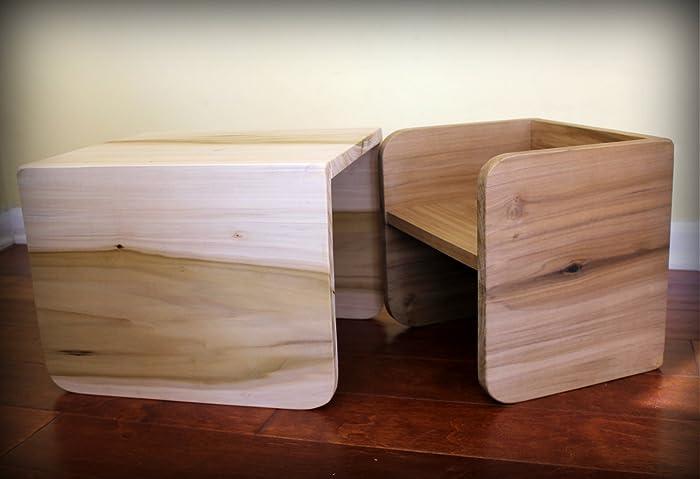 Merveilleux Montessori Cube Chair Set   2 Small, 1 Large