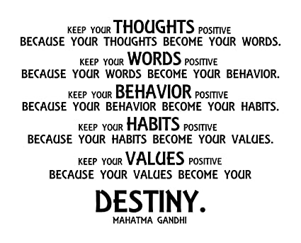 Mahatma Gandhi Motivational Quote Vinyl Wall Art : 28