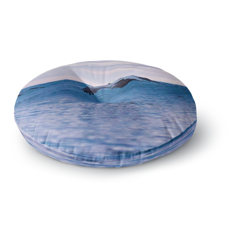 23 x 23 Square Floor Pillow Kess InHouse Colin Pierce Falling Sky Blue Lavender Photography